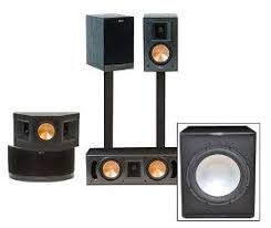 klipsch home theater speakers. klipsch rb-41ii home theater speaker system complete with free subwoofer speakers e