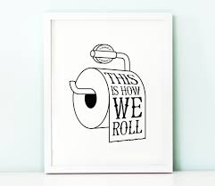 Printable Bathroom Wall Art | Printable Menu And Chart