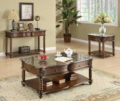 Marble Living Room Table Set Homelegance Lockwood Occasional Table Set Brown Mahogany C5560