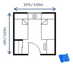 10ft X 10ft Bedroom Size For Twin Beds Allows For A Good Space Between The  Beds