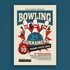 Bowling Event Flyer Bowling Tournament Flyer Template For Free Download On Pngtree