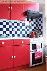 Kitchen Cabinets Painted Red Painted Kitchen Cabinets Allprocorp