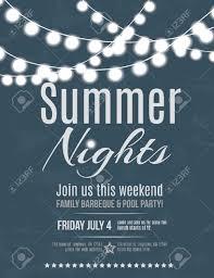 invitation flyer elegant summer night party invitation flyer template