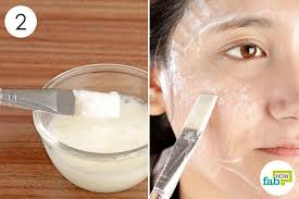 mix and apply the egg face mask once a week