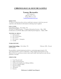 What Is A Chronological Resume Sample Chronological Resume Resume Badak 50