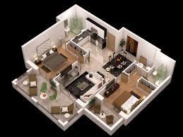 floor plan 3d. Detailed Floor Plan 3d 3D Model