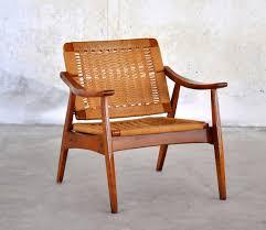 hans wegner style rope lounge chair
