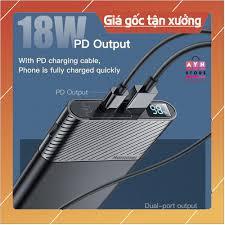 Pin dự phòng sạc siêu nhanh Hammer QC 3.0