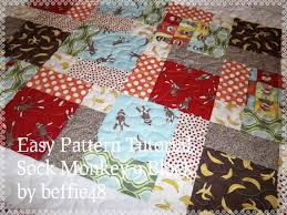 Sock Monkey Magic 9 Block Baby Quilt Pattern Tutorial pdf & Sock Monkey Magic 9 Block Baby Quilt, Pattern Tutorial, pdf file w photos Adamdwight.com