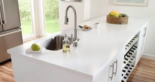 white quartz countertops. Solid White Quartz Countertops Awesome Black KItchen Island With Pure Countertop 3 | Animaleyedr.com