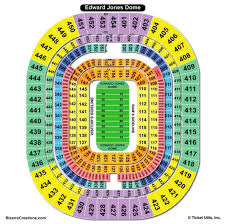 Edward Jones Dome Seating Chart Football Complete The Dome Seating Chart Edward Jones Dome Football