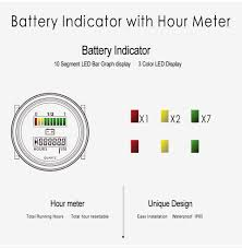 wholesale rl bi004 battery fuel gauge indicator with hour meter Golf Cart Battery Meter Wiring Diagram rl bi004 battery fuel gauge indicator with hour meter for dc powered equipment fork lifts Western Golf Cart Battery Wiring Diagram