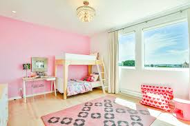 semi flushmount crystal chandelier lighting pink kids bedroom