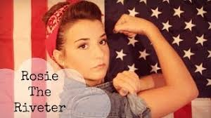 rosie the riveter makeup hair and outfit tutorial