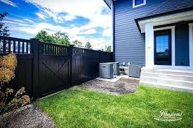black vinyl privacy fence. Backyard Black Vinyl Privacy Fence