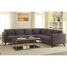 Azalea Mid Century Modern Sectional The Collection Furniture