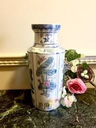 Asian <b>vase</b> blue and white Chinese <b>vase</b> republic period <b>ceramic</b> ...