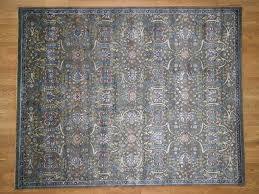 8 x10 silk with oxidized wool hi lo pile tabriz influence design oriental rug cwr40794