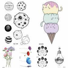 переводные наклейки тату с героями мультфильмов детские боди арт