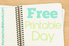 free printable day ihomeschool network