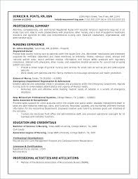 Resume Templates For Registered Nurses Mesmerizing Nursing Resume Example Nursing Resume Examples New Nursing Skills