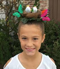 Kids Girls Hair Style birds nest for crazy hair day kids ideas pinterest crazy 7310 by wearticles.com