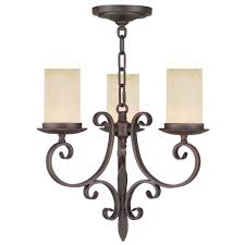 filament design providence 3 light imperial bronze incandescent ceiling mini chandelier