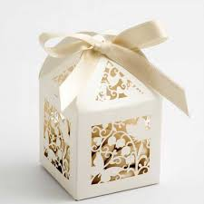 Ivory Filigree Butterflies Lasercut Wedding Favour Boxes Wedding