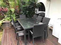 8 seater rattan outdoor table and chairs