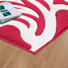 florence rugs red cream 2c