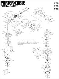 porter cable 725 two speed porta band saw parts (type 3) Drill Press Diagram Band Saw Wiring Diagrams #29