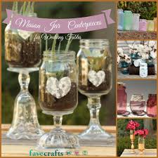 Table Decorations Using Mason Jars 60 Mason Jar Centerpieces for Wedding Tables FaveCrafts 2