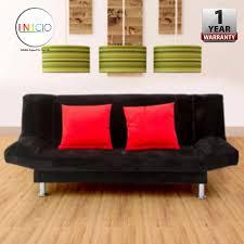 inicio iris 2 seater durable foldable sofa with 1 year warranty