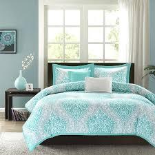 teal and gray bedding image of grey purple bedroom comforter
