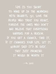 Lifes Too Short To Wake Up With Regrets Dr Seuss Poster