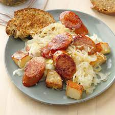 sausage and sauer recipe how to