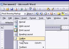 microsoft word menus using ms word to outline your paper