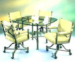 rolling dining chairs. Dining Table With Caster Chairs Rolling Round