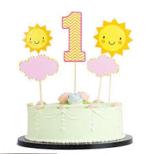 Amazoncom Lveud1 Year Old Girl Boy Happy Birthday Cake Topper