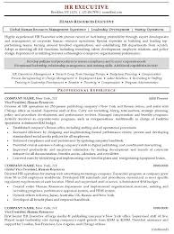 Exceptional Resume Examples Resume Sample 20 Human Resources Executive Resume Career