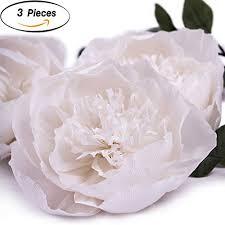 Tissue Paper Flower Decor Letjolt Giant Paper Flower Decorations White Crepe Paper Import It All