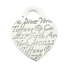 tiffany notes fifth avenue new york engraved heart silver pendant charm nextprev prevnext