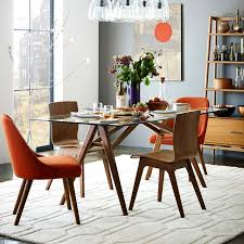 jensen dining table west elm round glass dining table