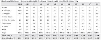 Equipment Sizing Chart Sizing Charts