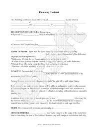 Independent Contractor Agreement Template Plumbing Contract Template Independent Contractor Agreement Form