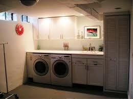 image of basement laundry room ideas lighting fixtures