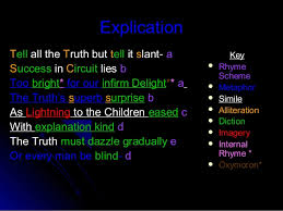tell all the truth but tell it slant ppt 386 2 explication tell all the truth