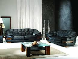 Leather Sofa Living Room Sensational Black Leather Couches With Round Coffee Table And Iron
