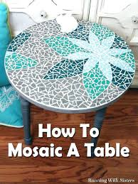 diy glass mosaic table top mosaic round table top glass coffee learn including transfer design home