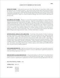 Assistant Warehouse Manager Job Description Warehouse Manager Resume Examples Job Description Stock